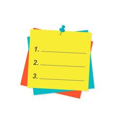 agenda list paper vector image vector image
