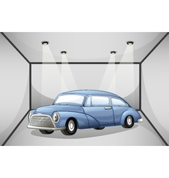 An old car at the garage vector image