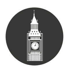 Big ben london isolated vector