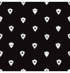 Black and white security shields pattern eps10 vector