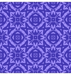 Blue Ornamental Seamless Line Pattern vector image vector image