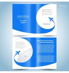 booklet catalog brochure design template folder vector image vector image