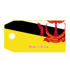 Brunei flag on price tag vector