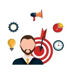 Business project management plan vector image