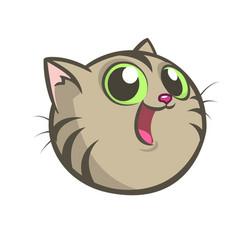 cartoon image of a gray cat vector image
