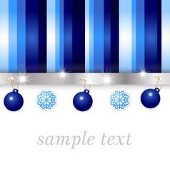 Christmas blue greeting card vector