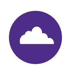 Cloud storage button image vector