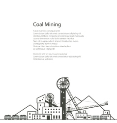 Coal industry brochure design vector