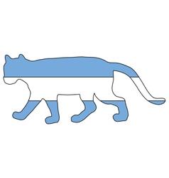 Cougar argentina vector