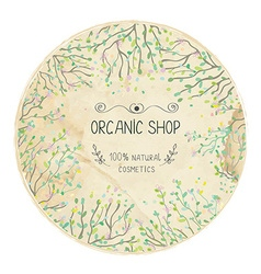 Eco shop natural label design with trees vector image