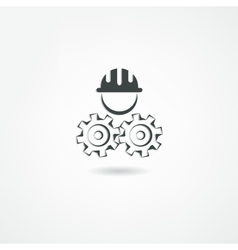 engineer icon vector image vector image