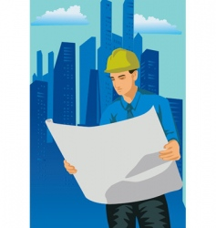 engineer open resource vector image