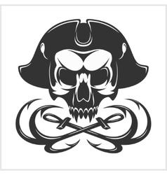 Evil skull dark t-shirt design pirate vector