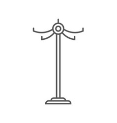floor clothes hanger isolated icon in linear style vector image vector image