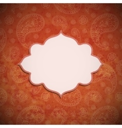 Frame in the Indian style vector image vector image