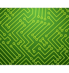 Green and yellow printed circuit board vector