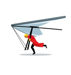 Hang gliding sign vector image