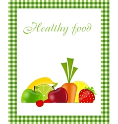 Healthy food menu template vector image vector image