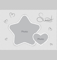 Kids photo frames template amazing montages vector