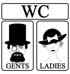 Male and female restroom symbol vector