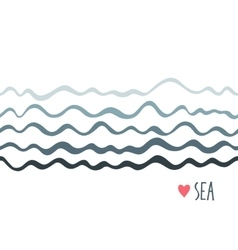 Marine seamless horizontal background with waves vector