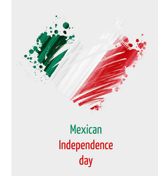 Mexican independence day background with grunge vector