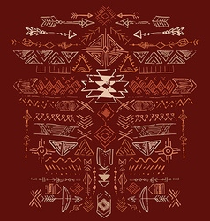 Navajo aztec tribal ethnic ornament vector