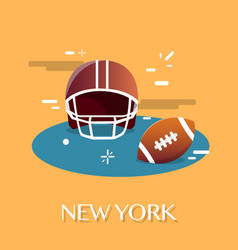 New york american footballvactor vector