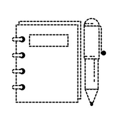 Note book with pen vector