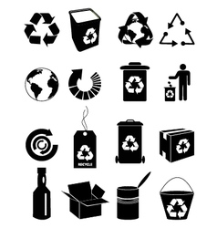 Recycle icons set vector image vector image