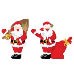 Santa with sack vector