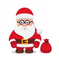 set christmas flat santa claus vector image vector image