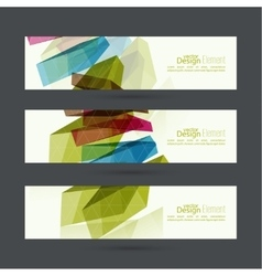 Set of abstract banners header vector image vector image