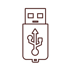 usb storage technology vector image