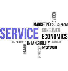 word cloud service vector image vector image