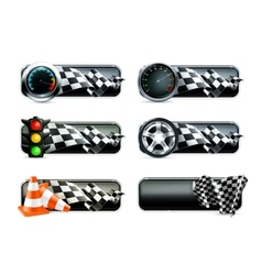 Racing banners set vector image
