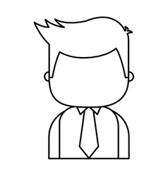 Businessman funny character icon vector