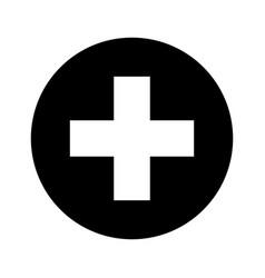 Medical cross symbol icon vector