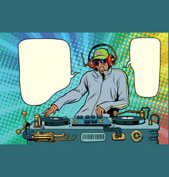 Dj african boy party mix music vector