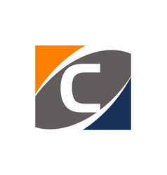 Success solution letter c vector