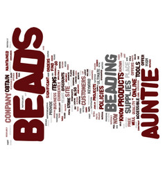 Aunties beads text background word cloud concept vector