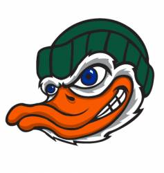 Duck with cap vector