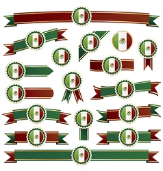 Mexican ribbons vector