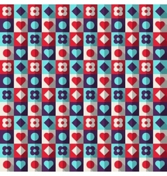 Abstract geometric pattern colorful squares vector