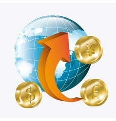 Global economy money and business vector
