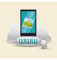 Cloud computing design media icon isolated vector