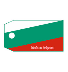 bulgaria flag on price tag vector image