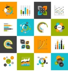 Business charts set vector