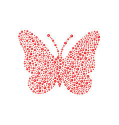 Butterfly in red design vector