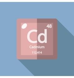 Chemical element cadmium flat vector